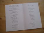 Loudermilk wedding program